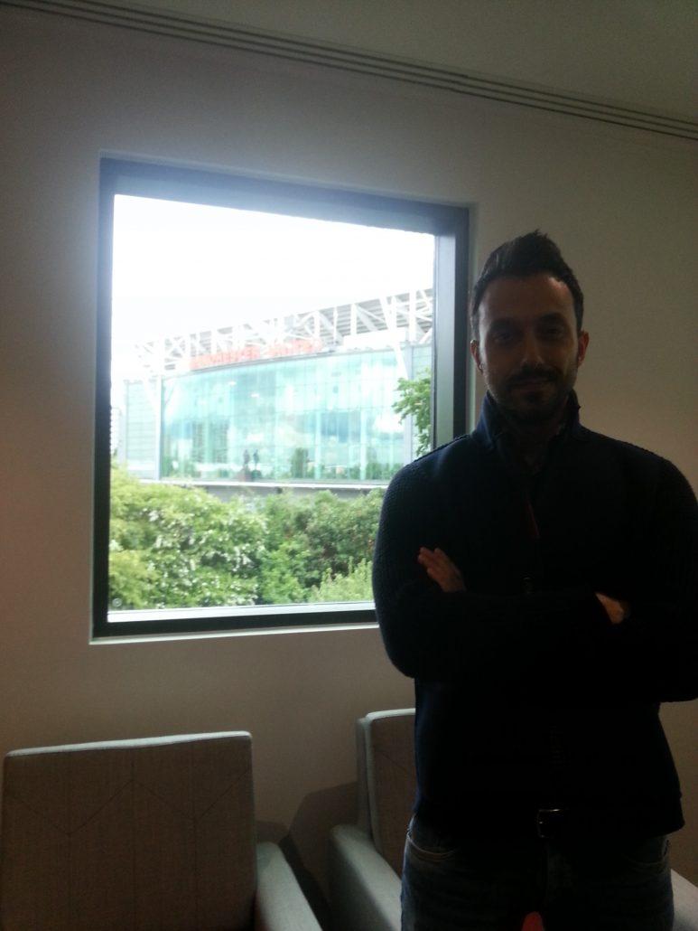 Георги Захариев по време на семинар за скаути в Манчестър